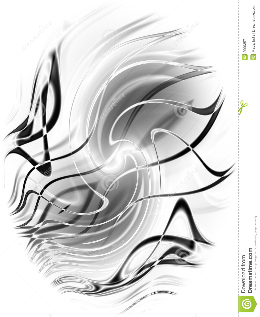 Abstract Black Lines Pattern