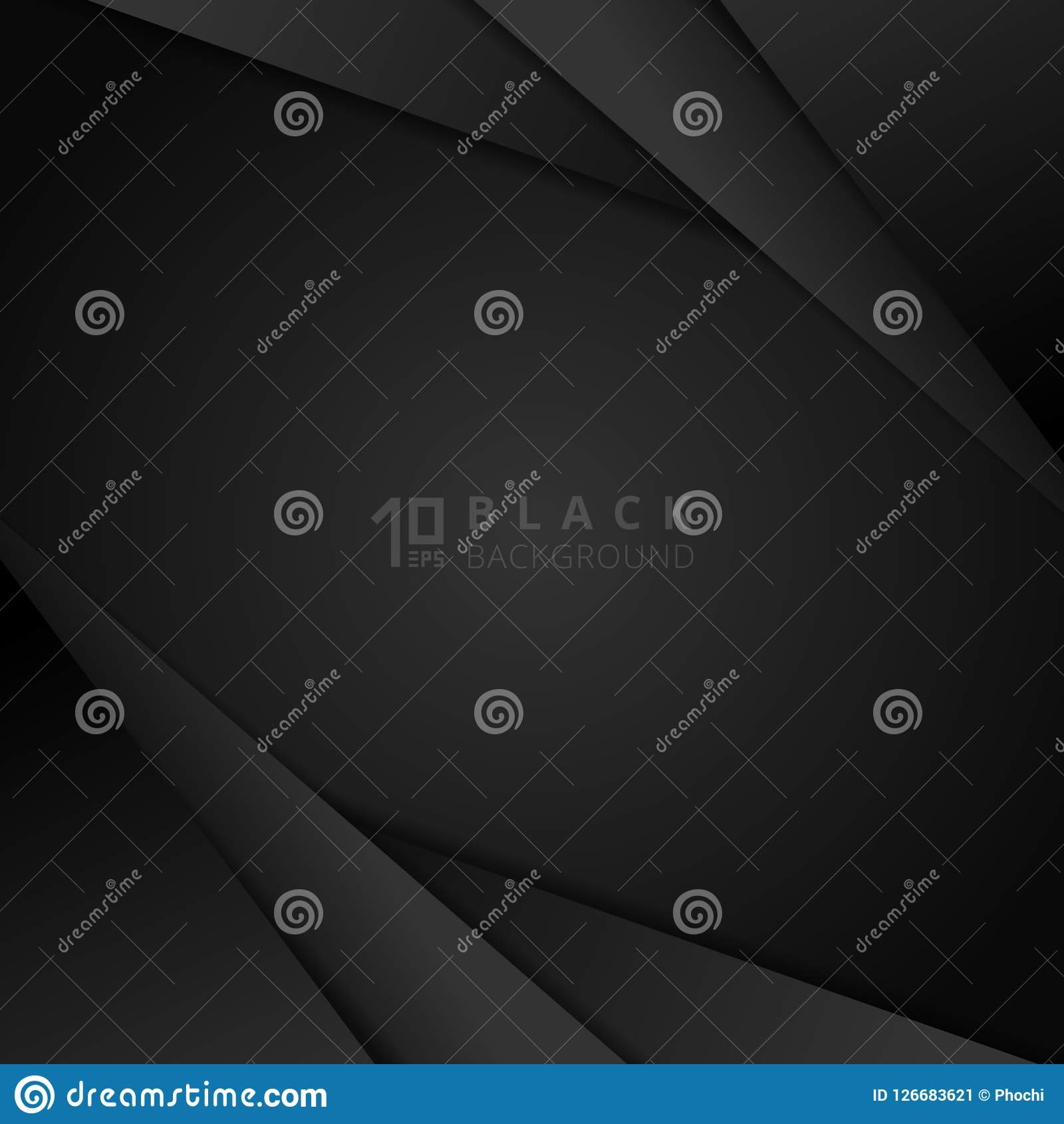 Abstract black modern overlap dimension background with paper la