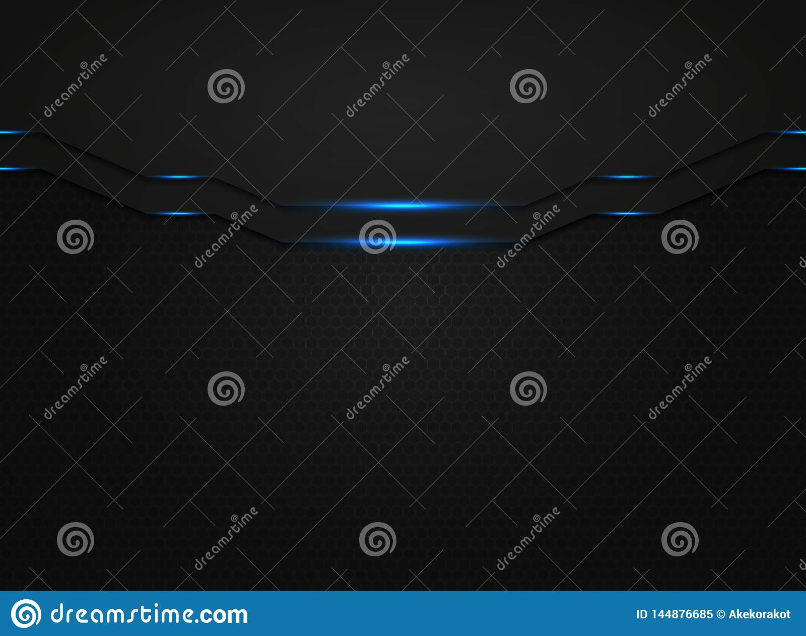 Abstract black modern technology template with blue light glitters. illustration vector eps10