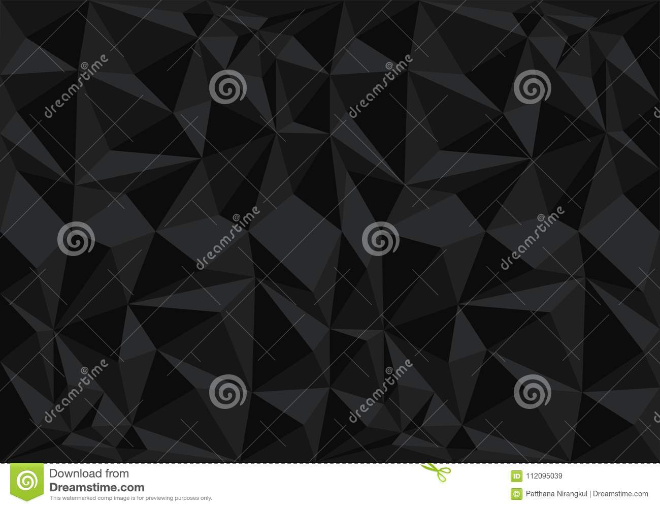 Abstract Black Polygon Pattern Background Texture Vector