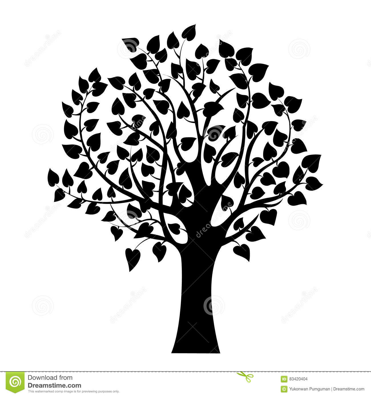 abstract black tree isolated nature symbol silhouette