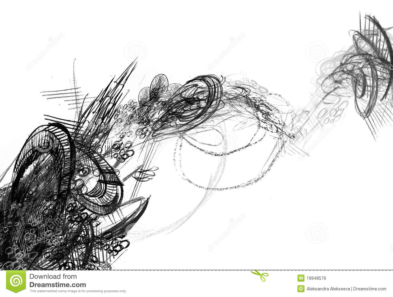 abstract black and white drawing stock illustration illustration