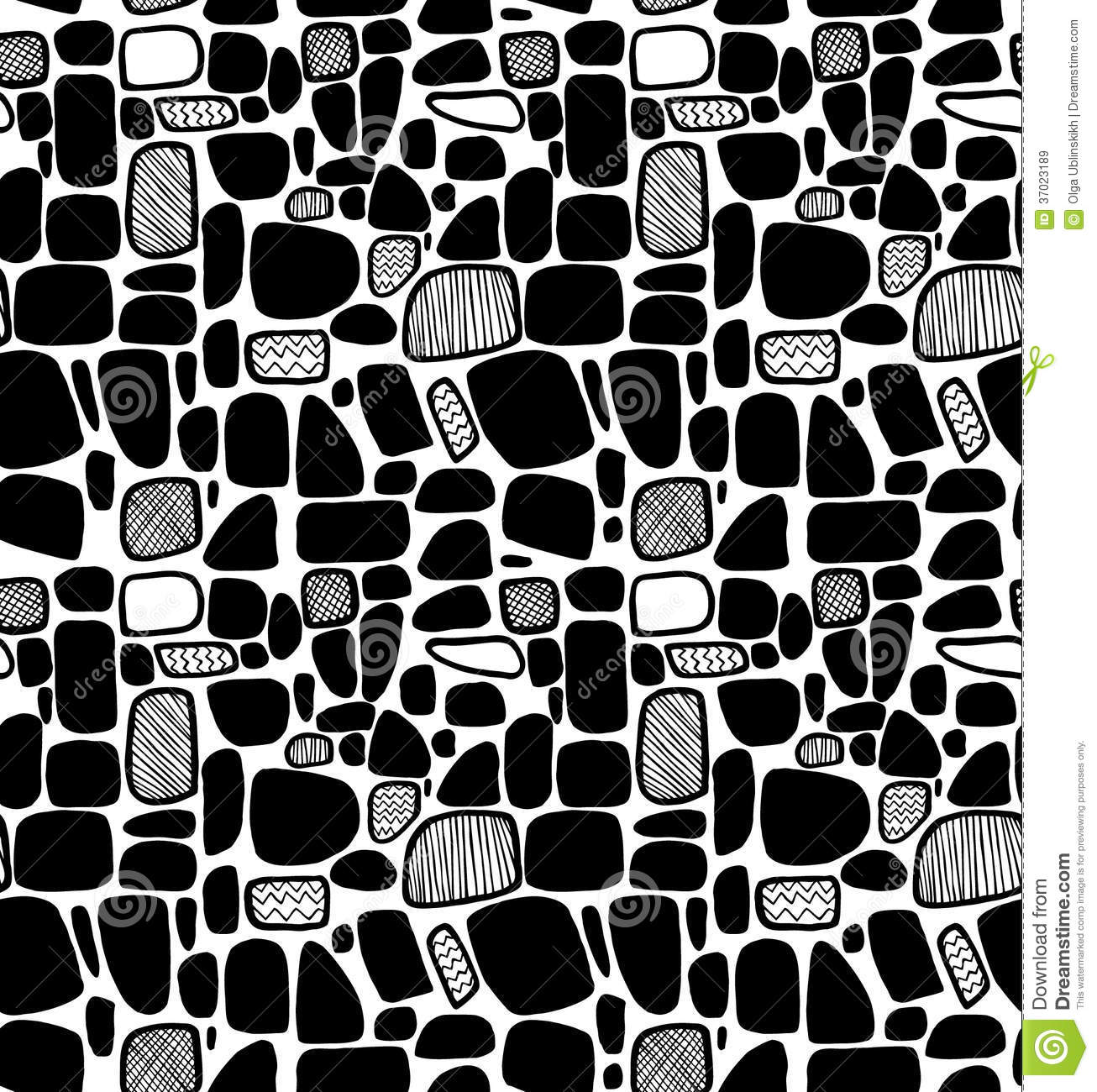 Abstract Black And White Geometric Pattern. Decorative ...