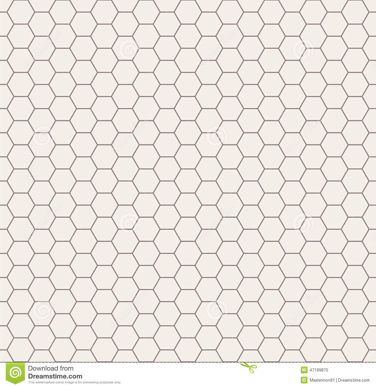 Abstract Black And White Honeycomb Seamless Stock Vector