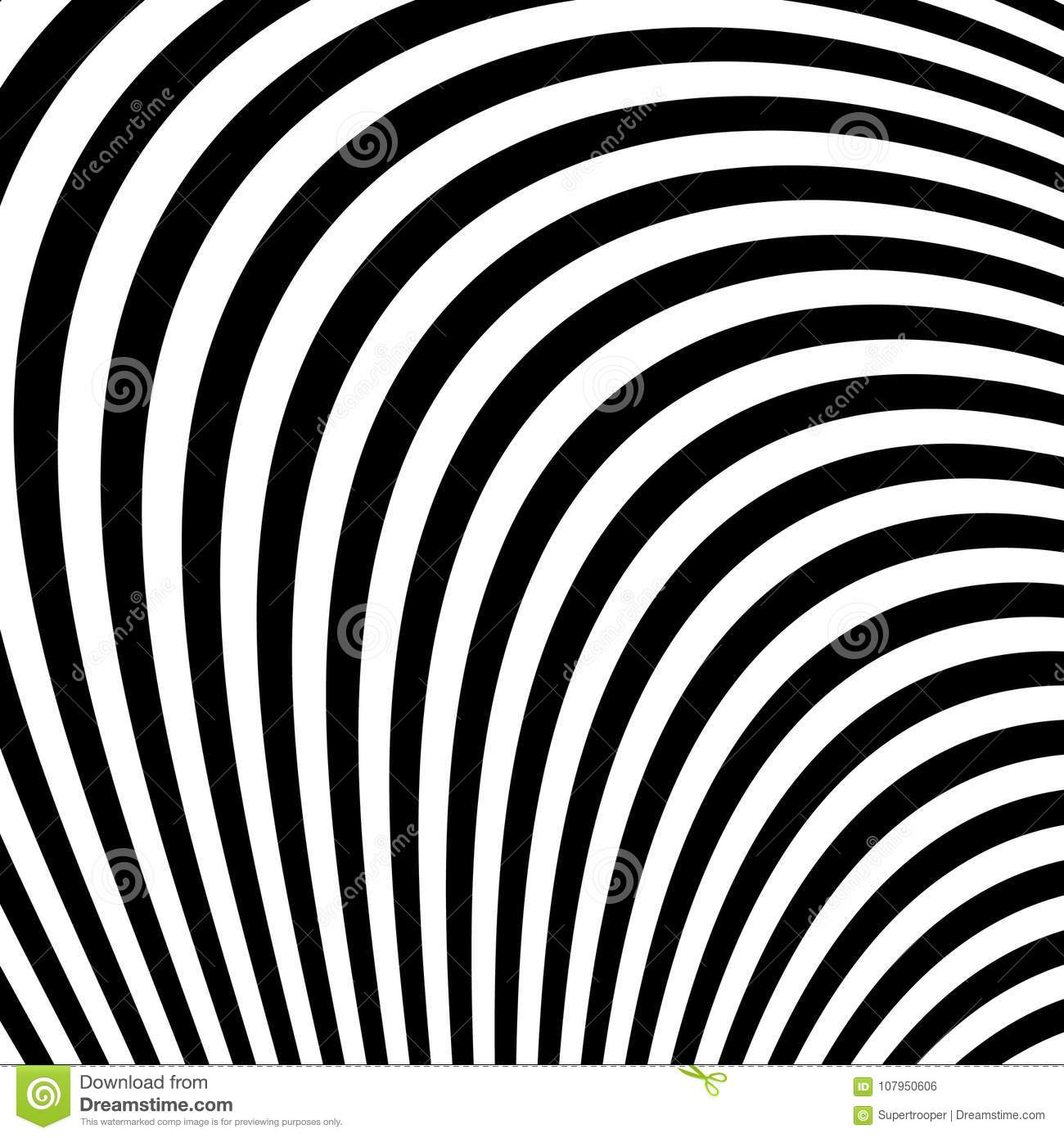 Abstract Black And White Abstract Lines Stock Vector