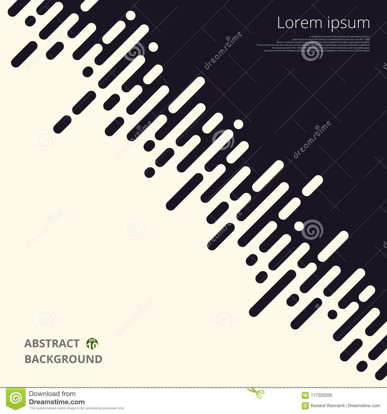 Abstract of black and white stripe lines for business presentation background.