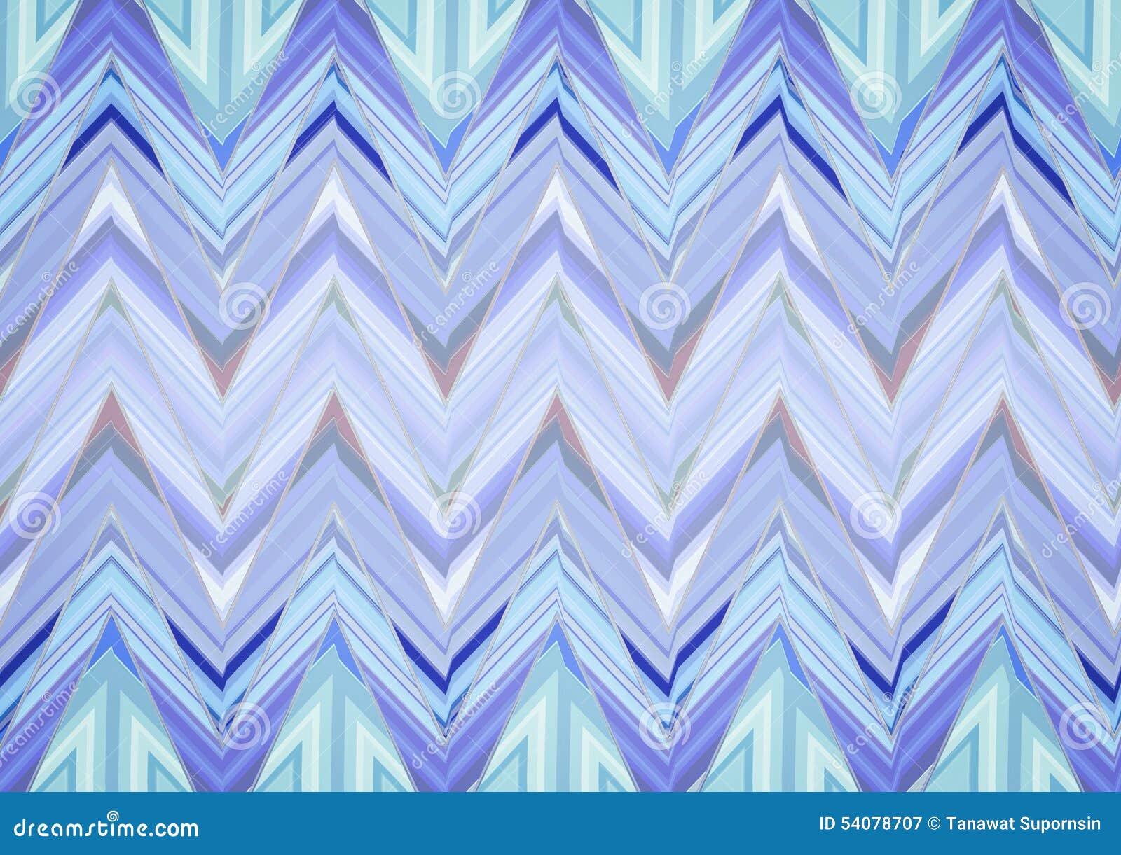 Abstract Blauw Zigzagpatroon