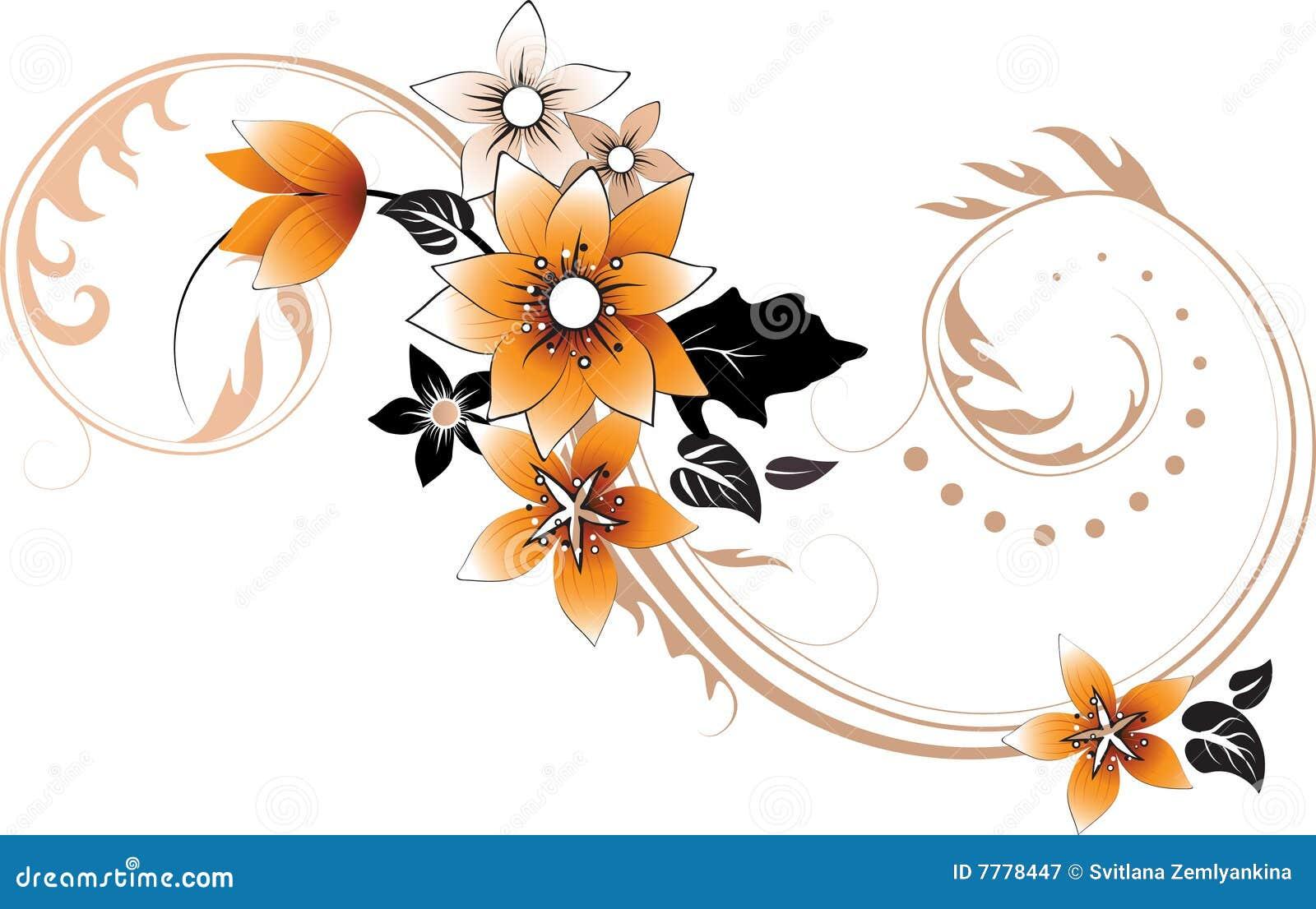 Abstract bloemenelement voor ontwerp