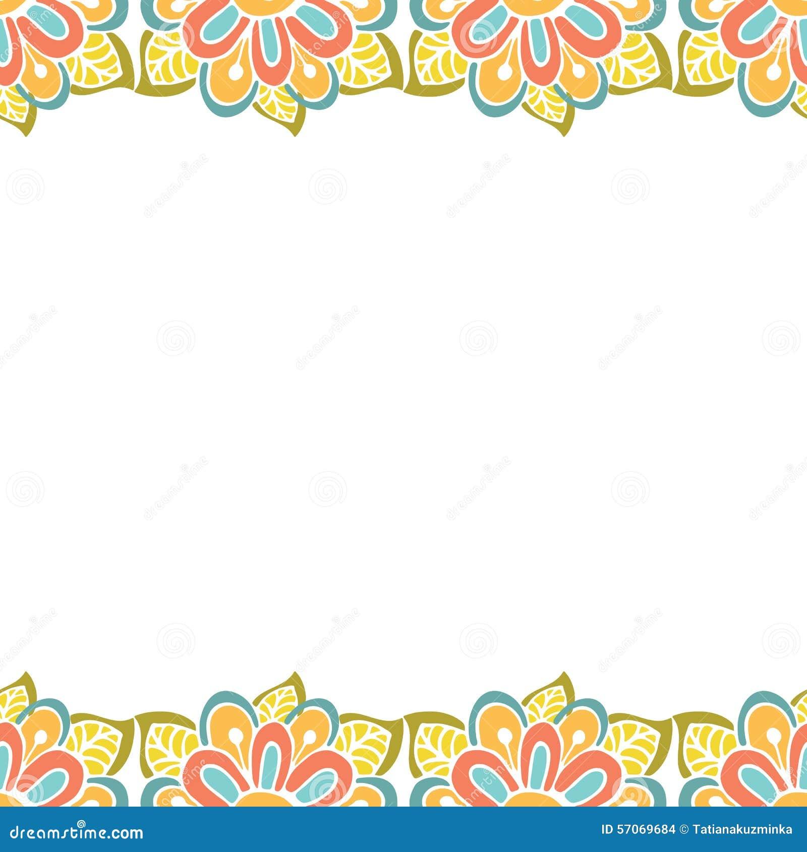 Abstract bloemenkader met plaats voor tekst