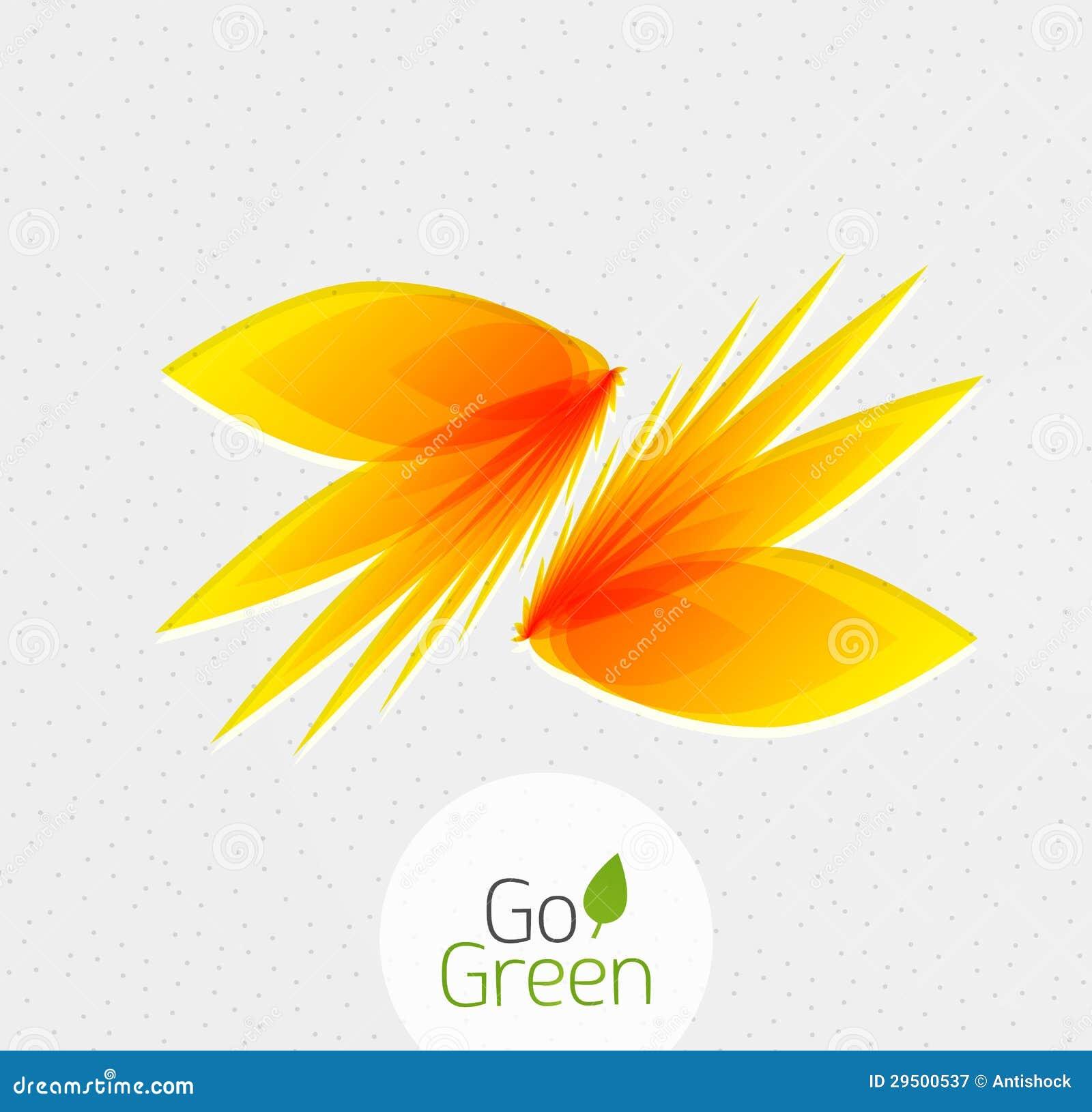 Abstract bloemontwerp. Ga Groen concept