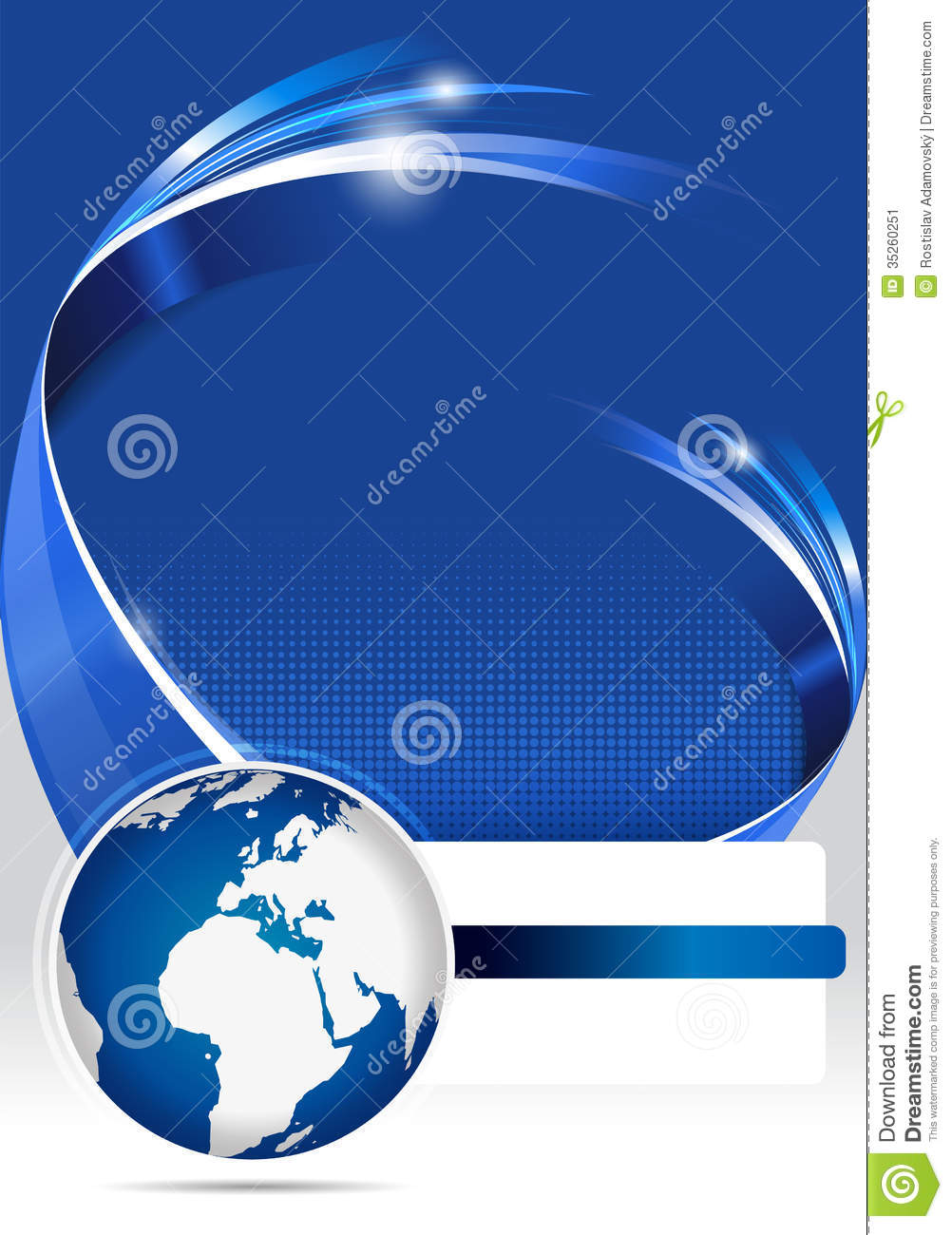 abstract blue background of brochure for company stock