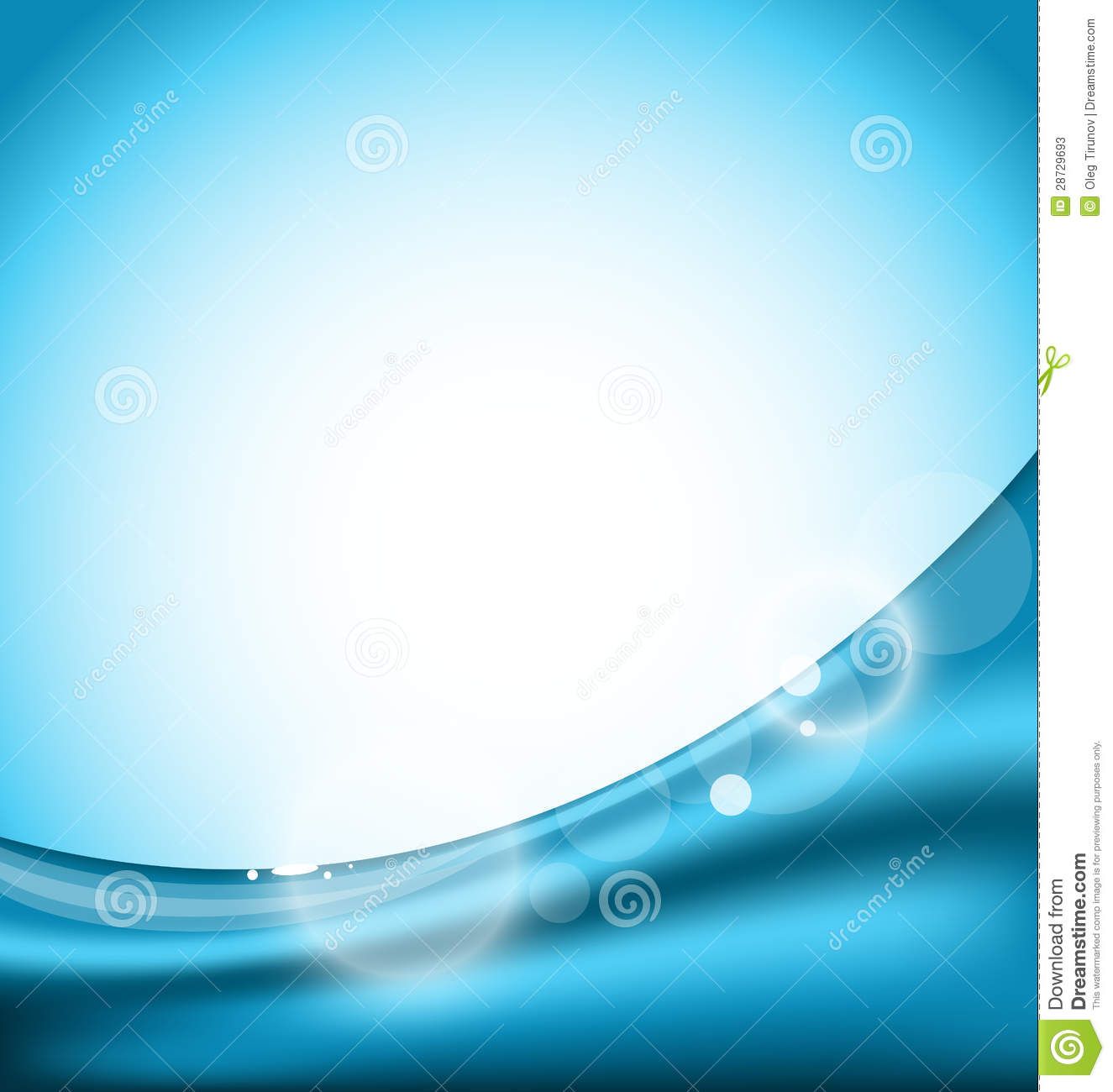abstract blue background, design template stock vector