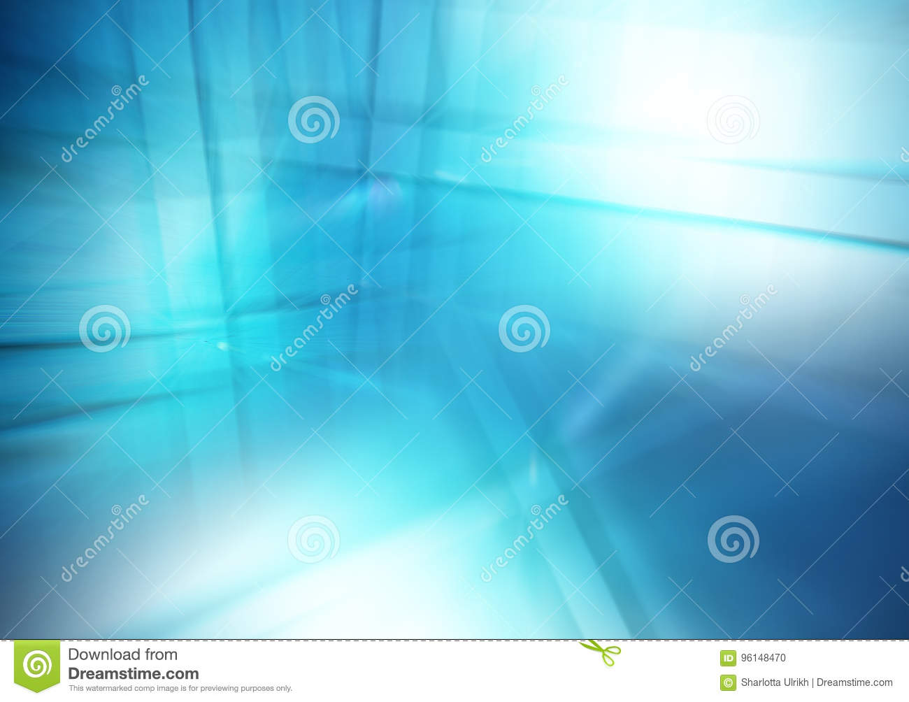 Abstract blue background of lines and reflections, Business theme