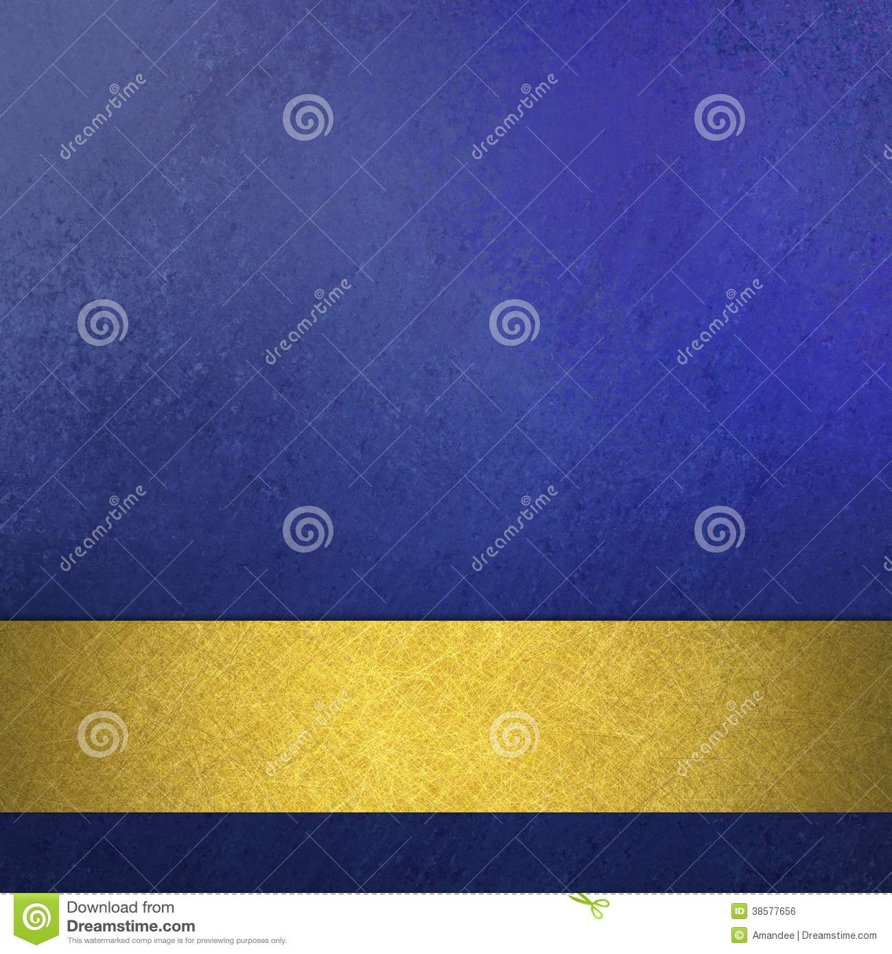 Abstract blue background luxury rich vintage grunge background texture design with elegant antique abstract gold ribbon stripe