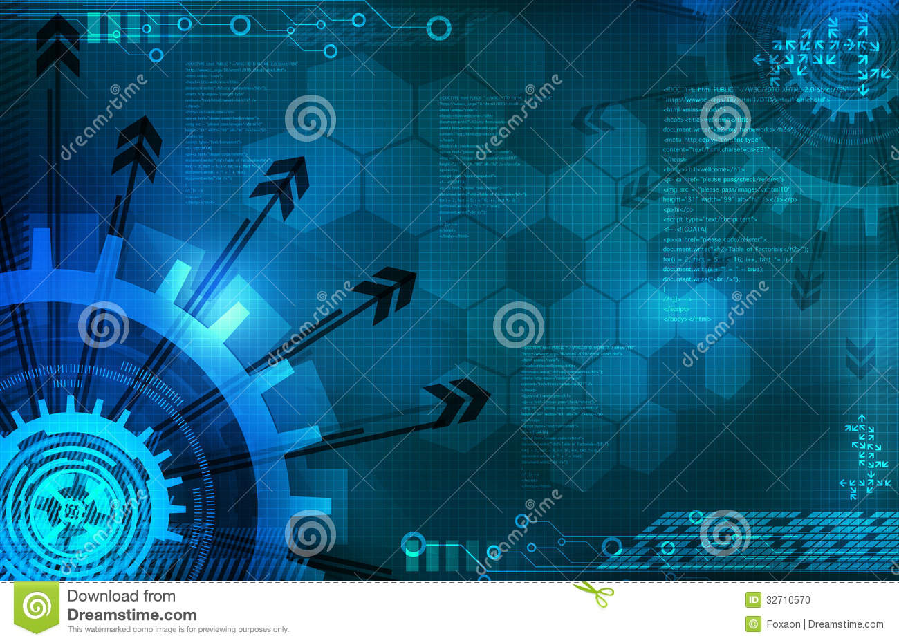 Blue Technology Abstract Background: Abstract Blue Background Technology Stock Illustration