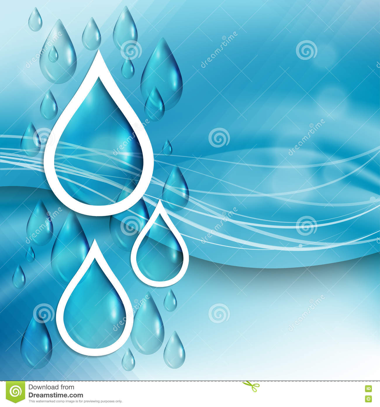 blue abstract water drops background royaltyfree stock