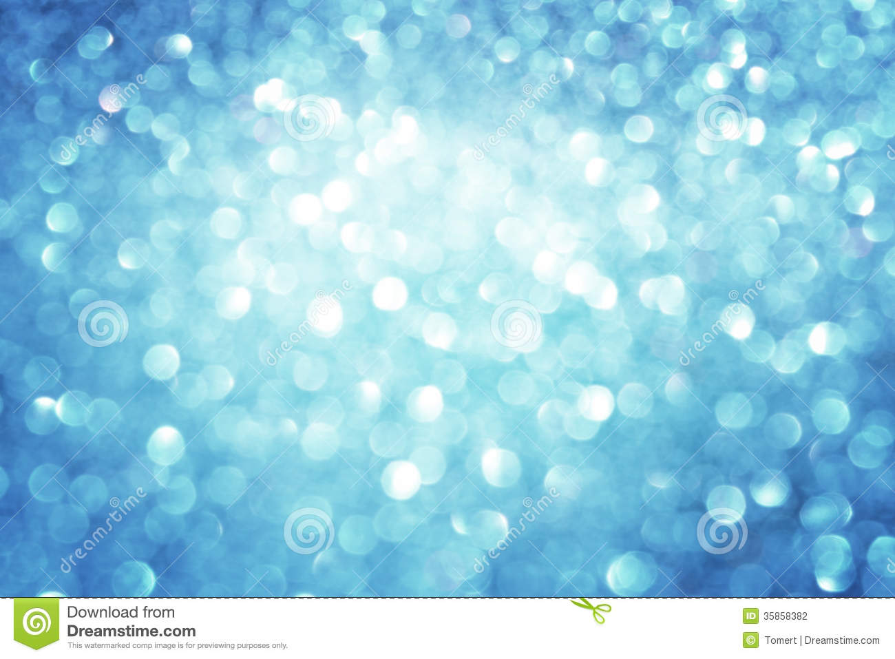 Abstract Blue Bokeh Lights, Defocused Background Of Blue ...