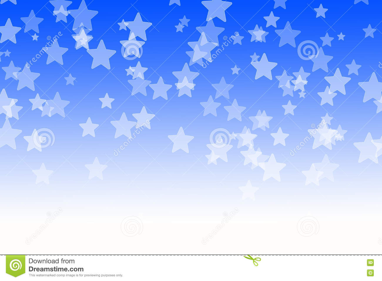 Abstract blue bokeh stars background