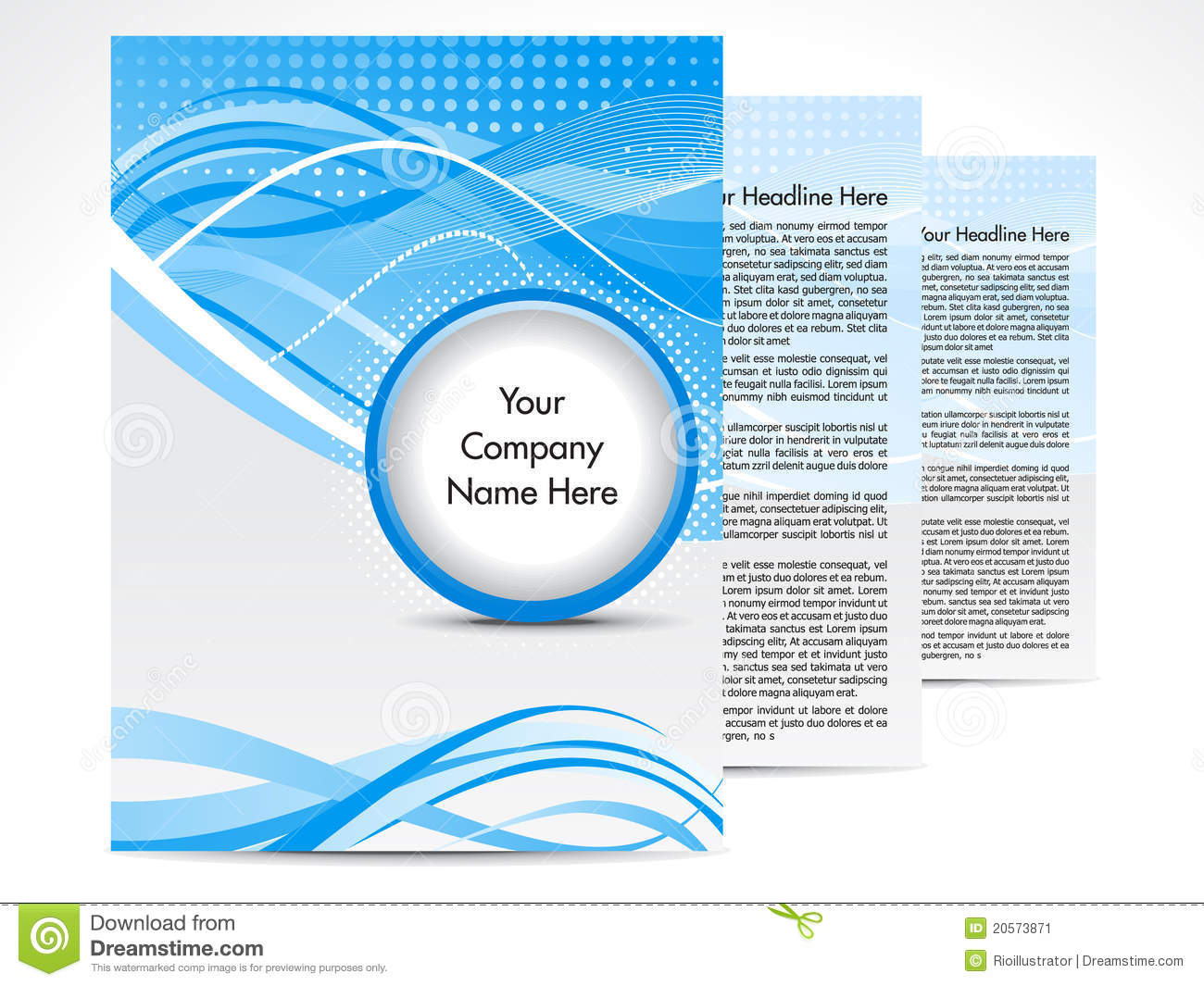 Abstract Blue Brochure Design Stock Image Image 20573871