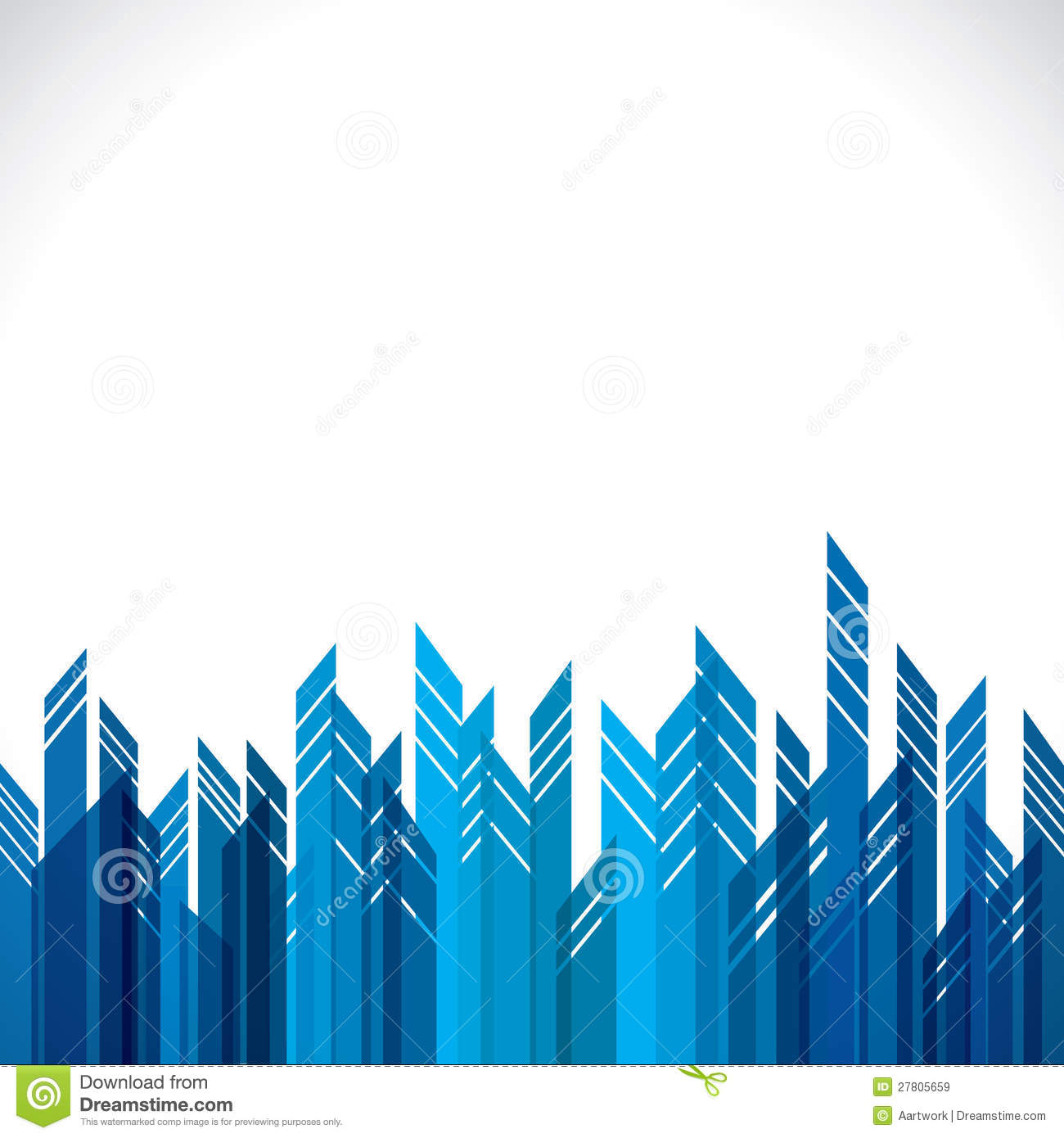 Abstract Blue City Building Royalty Free Stock Images