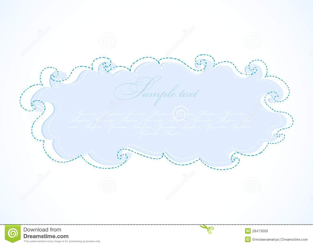 abstract blue cloud vector frame royalty free stock