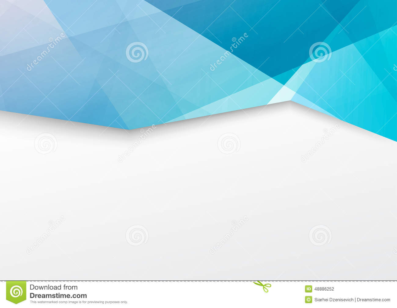 Abstract Blue Crystal Border Brochure Booklet Stock Vector