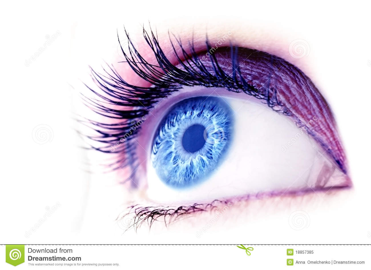 Abstract blue eye