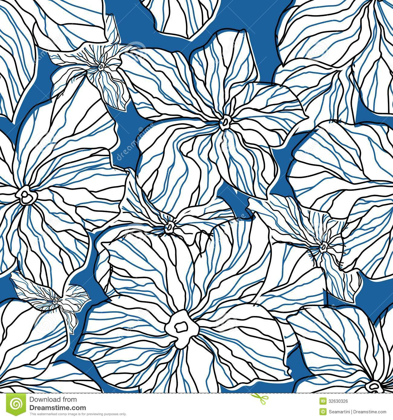 Abstract blue floral seamless pattern royalty free stock for Architecture textile