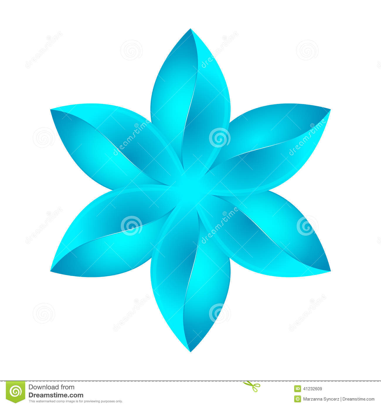 Artistic floral element abstract gzhel folk art blue flowers stock - Abstract Blue Flower Design Royalty Free Stock Images