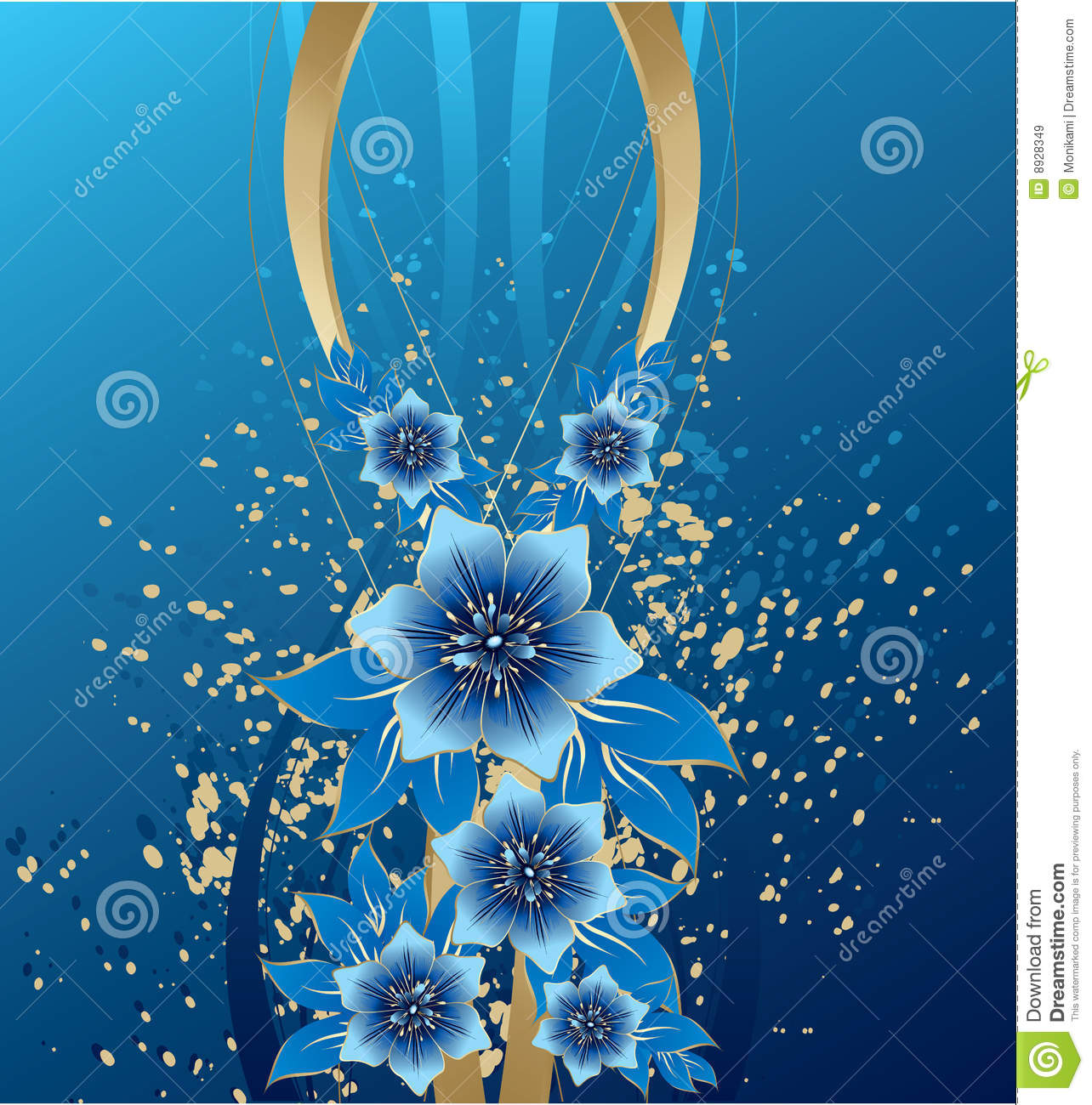 Abstract blue flowers on grunge background stock vector download abstract blue flowers on grunge background stock vector illustration of blue creative izmirmasajfo