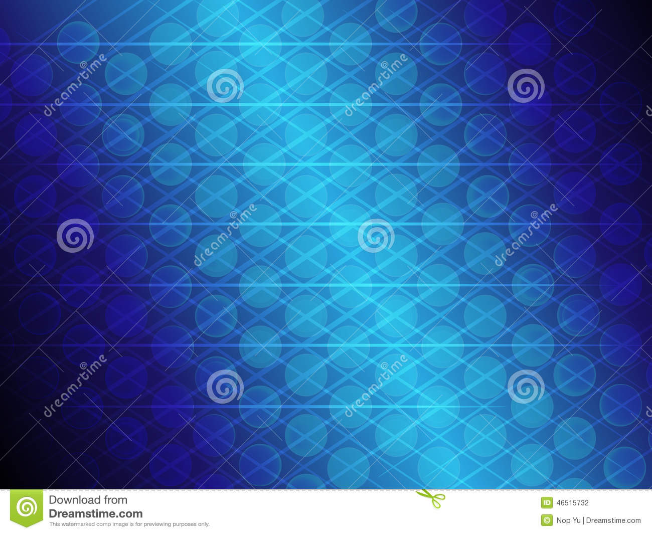 Abstract blue gradient circle and line glowing background