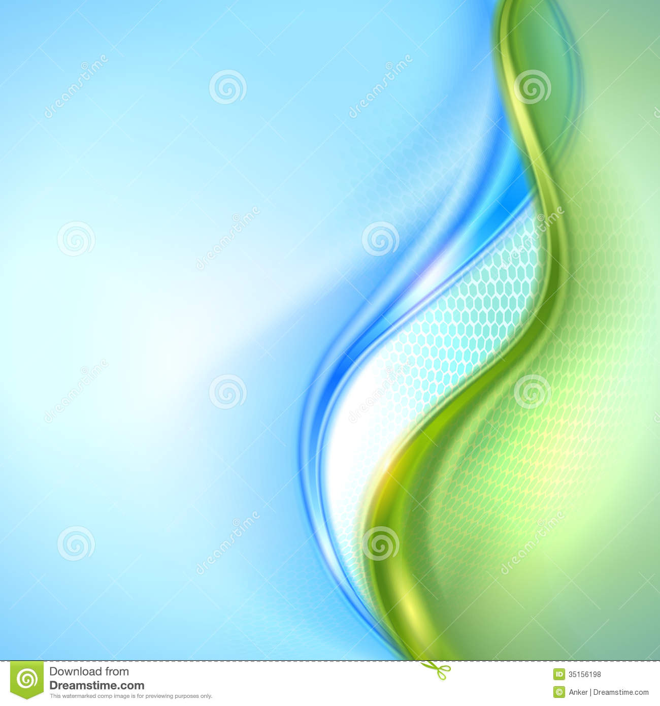 Abstract Blue And Green Background Stock Vector