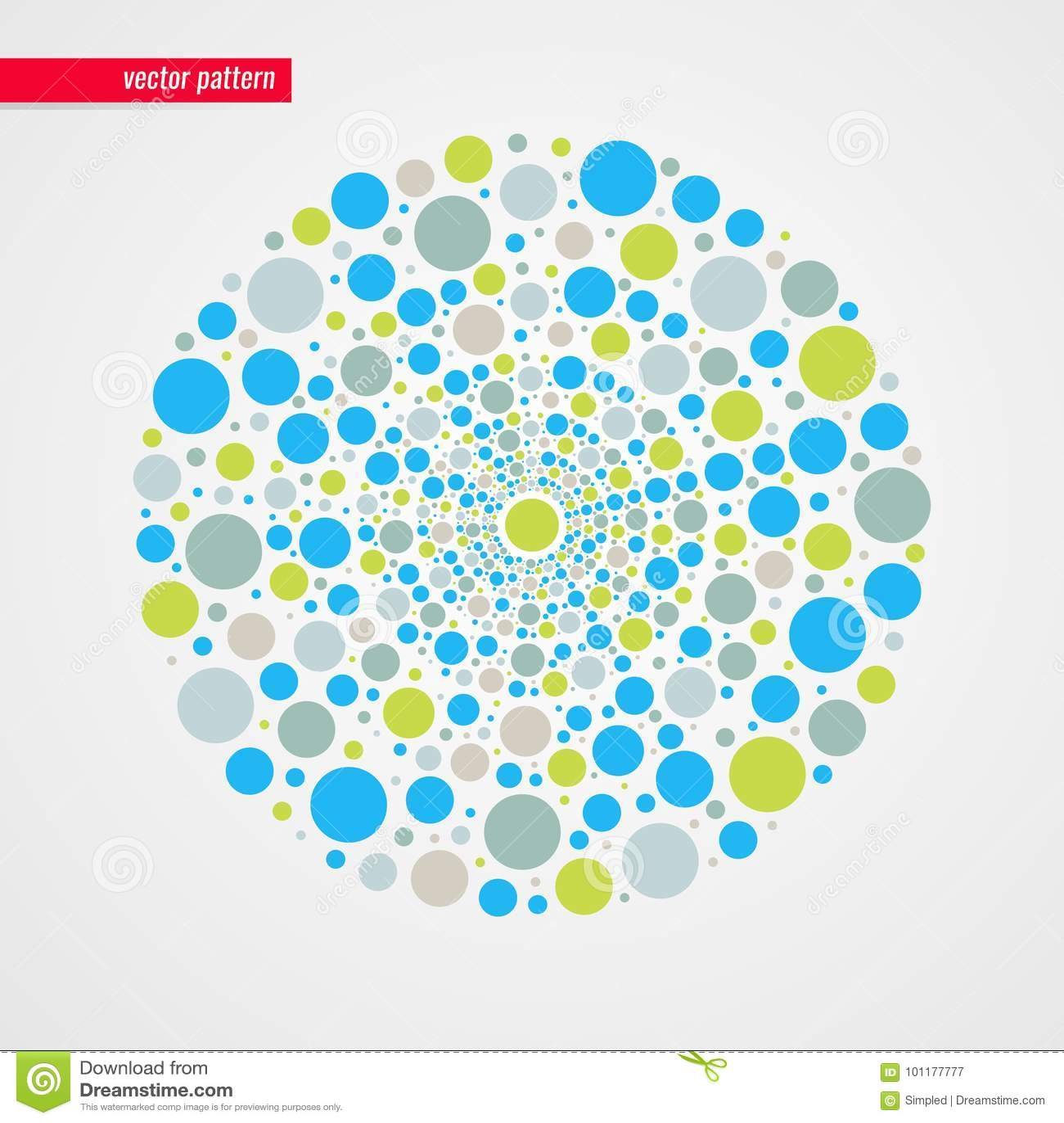 Abstract blue green beige bubbles vector pattern. Decorative design element. Happy illustration for decoration, concept kid design