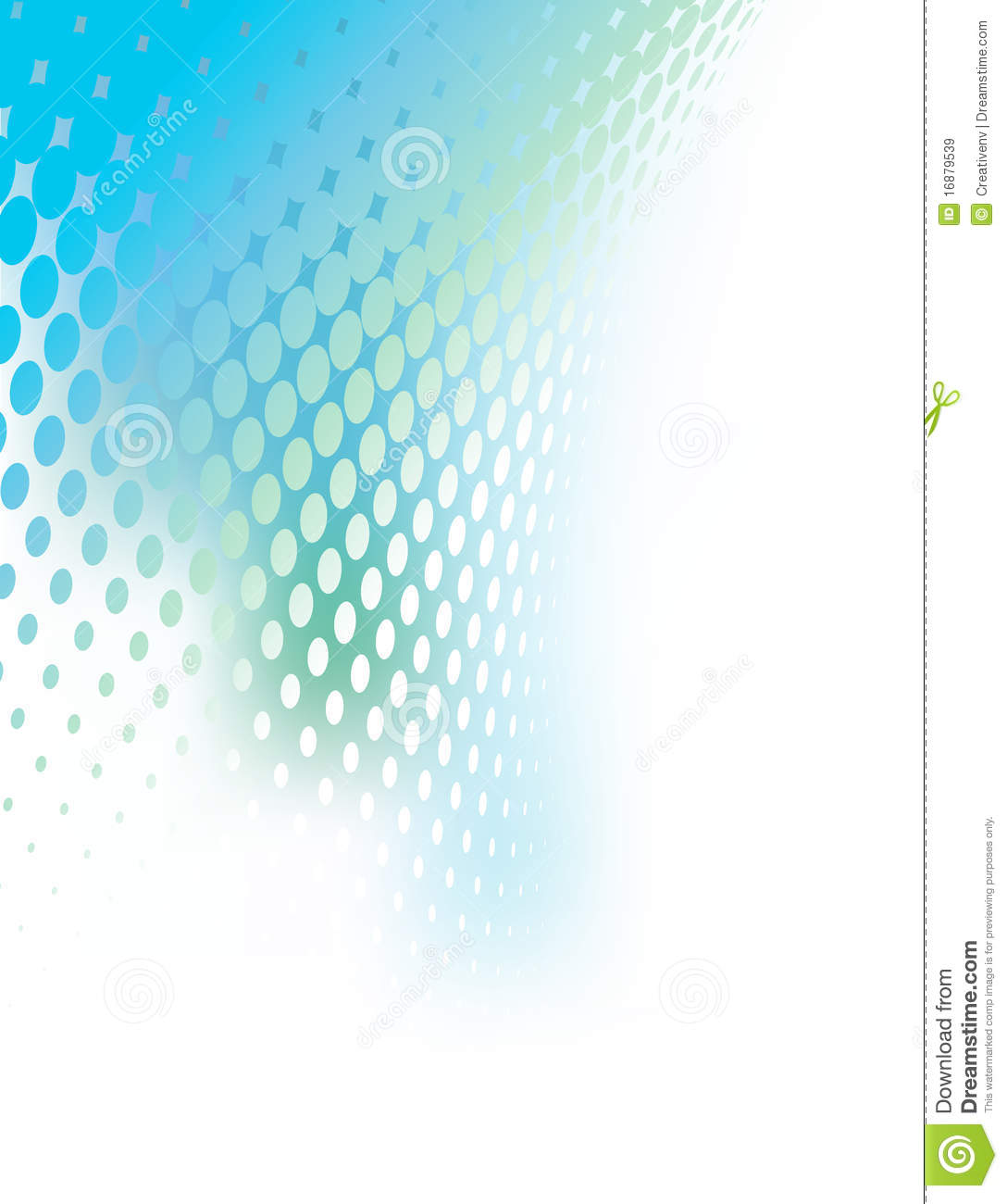 Abstract Blue Green Creative Background Tempate Royalty
