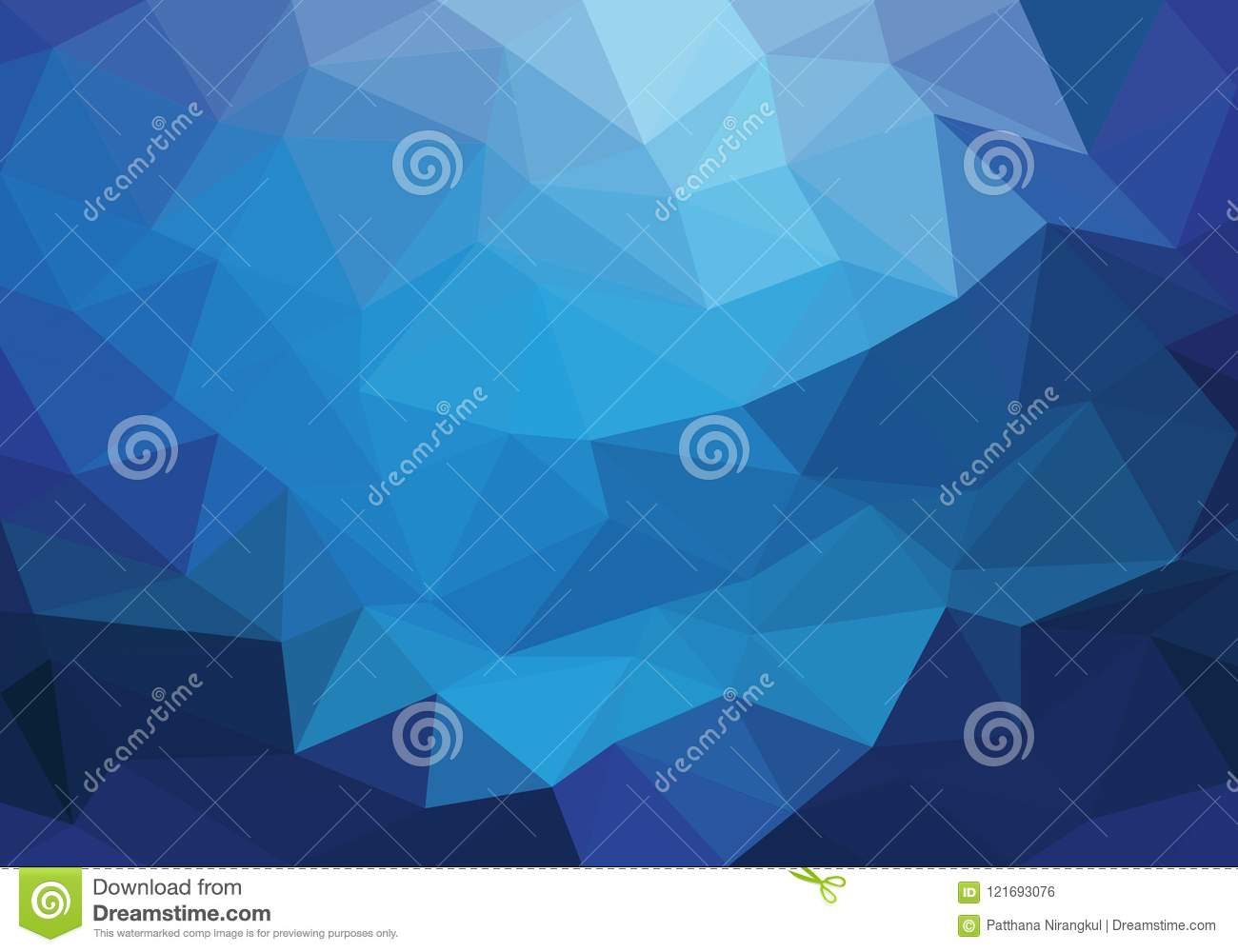 Abstract Blue Light Triangle Polygon Background Texture Vector Stock