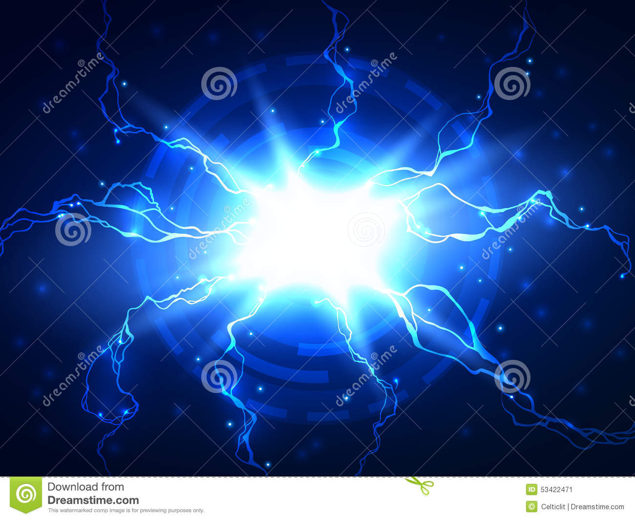 abstract blue electricity - photo #25