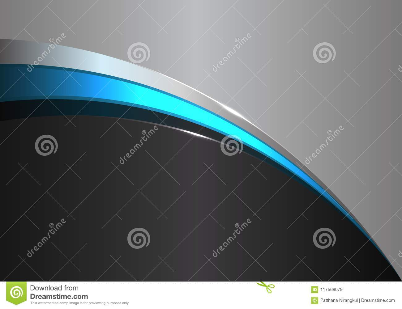 Abstract Blue Line Curve On Black Gray Design Modern