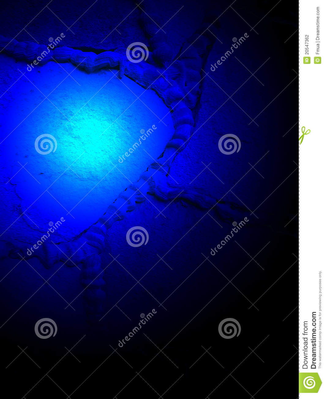 Abstract Blue Magic Light, Power Details, Stock