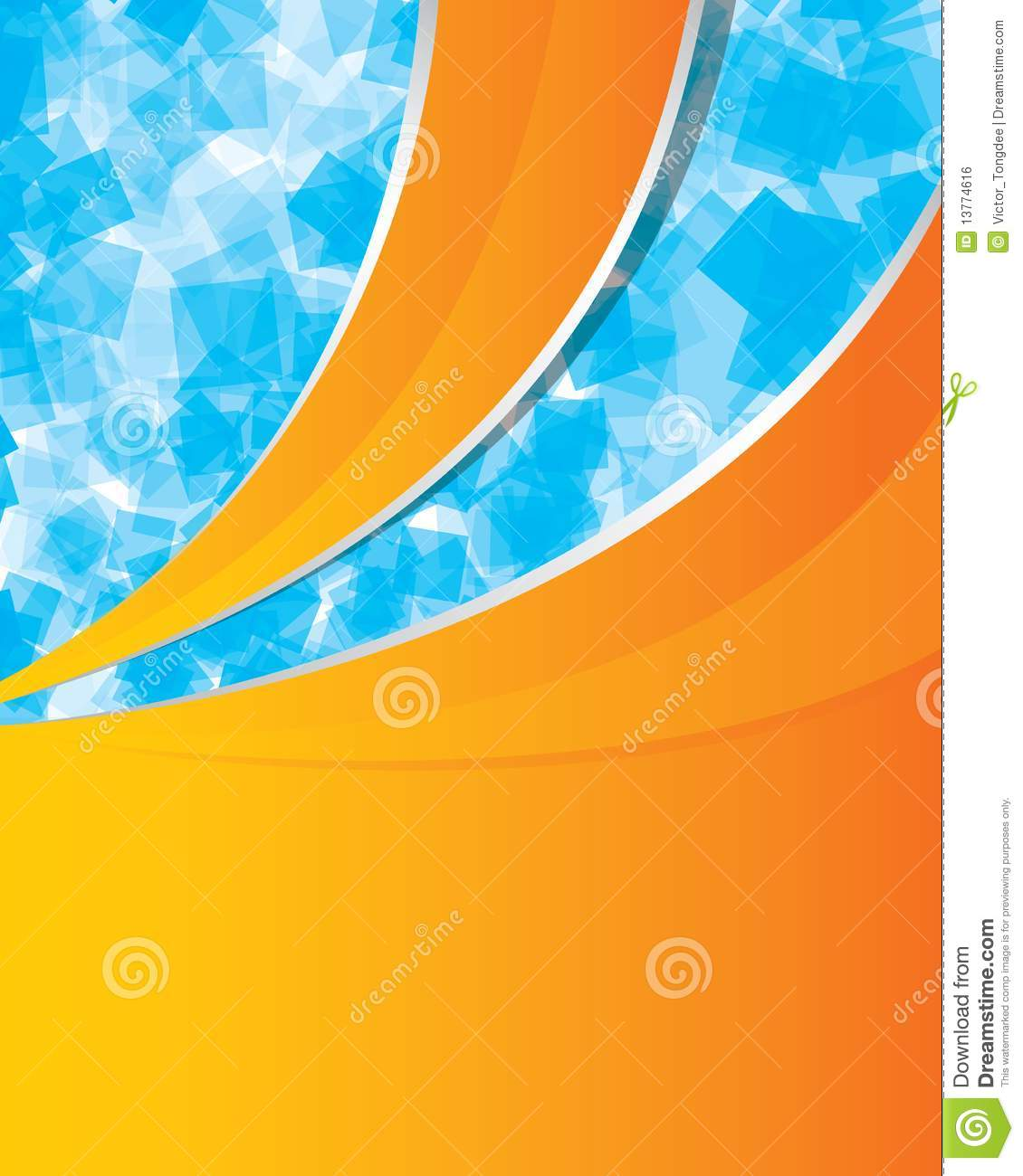 Orange And Blue Abstract Background