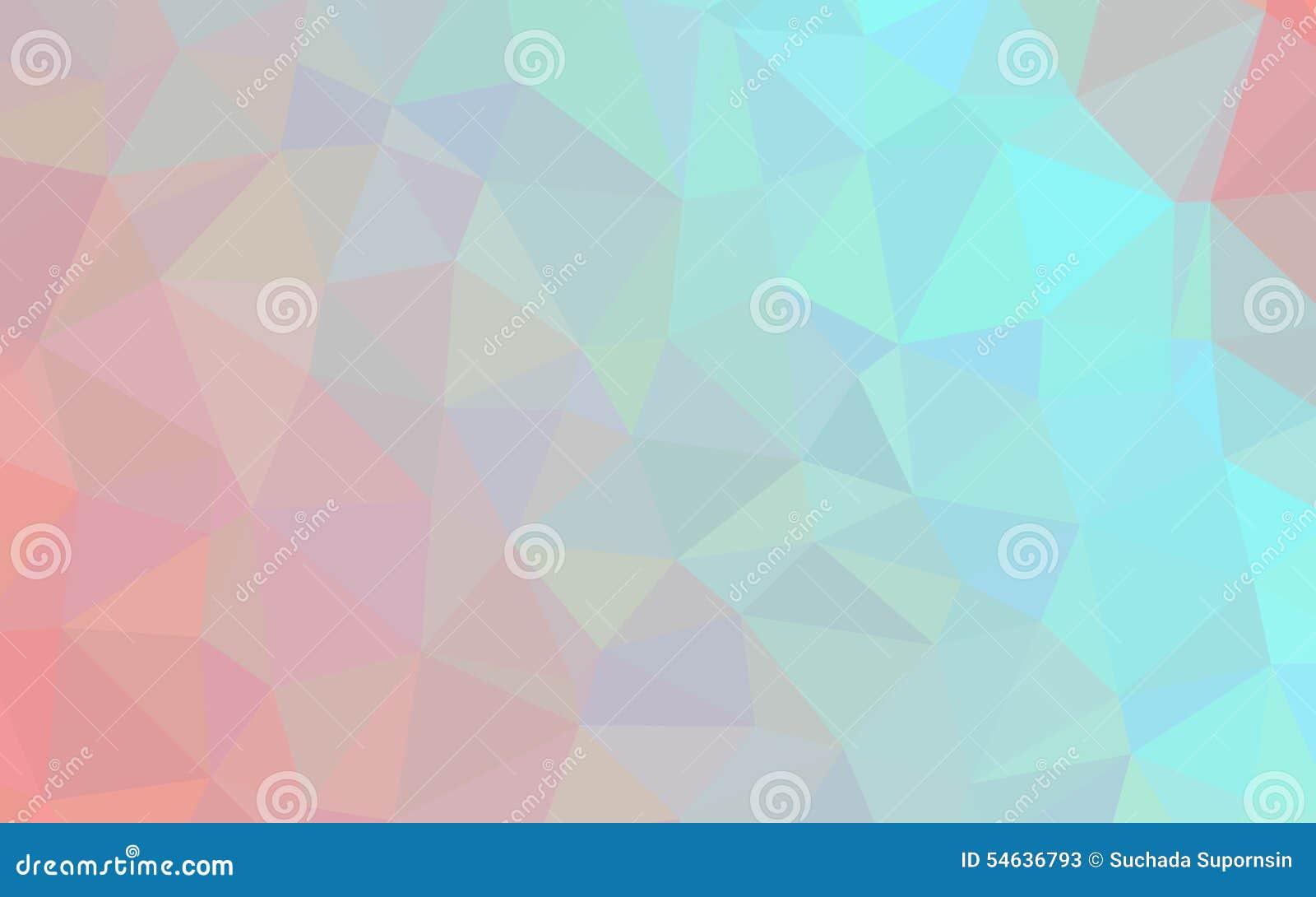 Abstract Blue Orange Polygon Pattern Wallpaper Stock