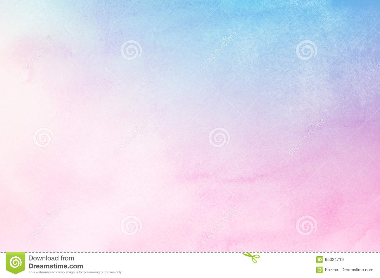 Abstract blue and pink pastel watercolor background
