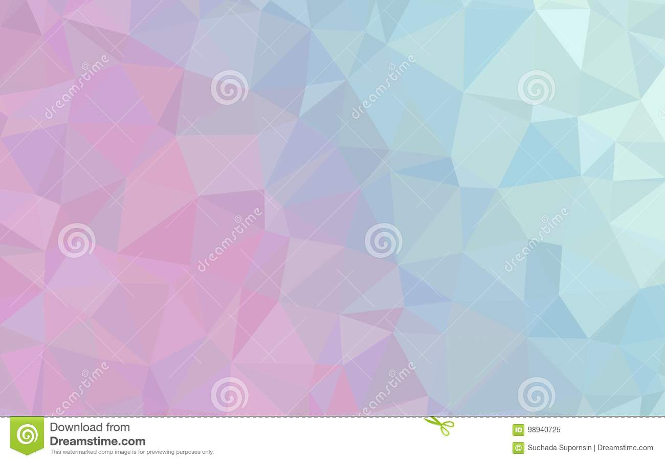 abstract blue pink polygon pattern wallpaper stock illustration