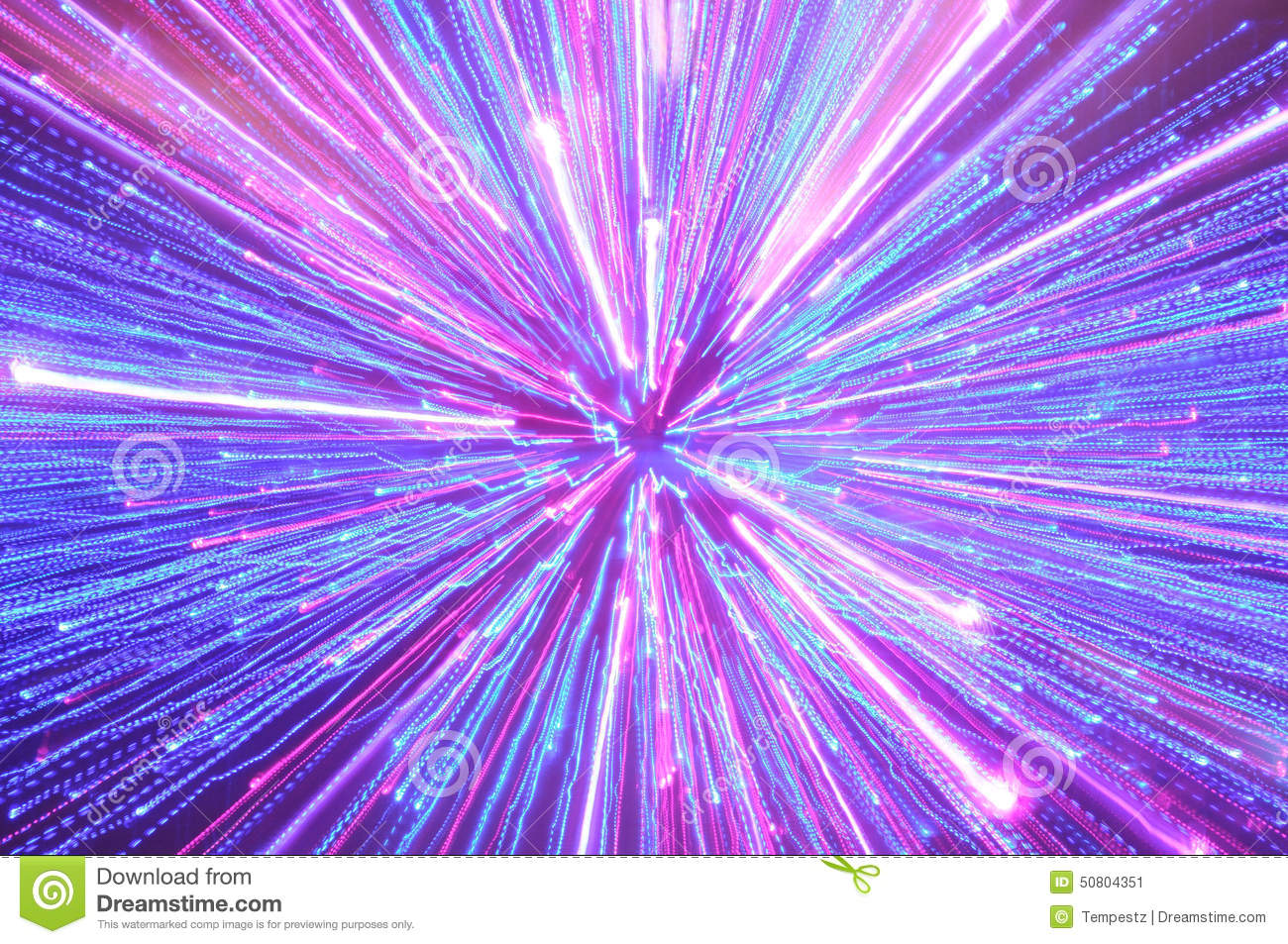 Abstract Blue, Pink And Purple Lighting Streaks Stock Photo - Image ...