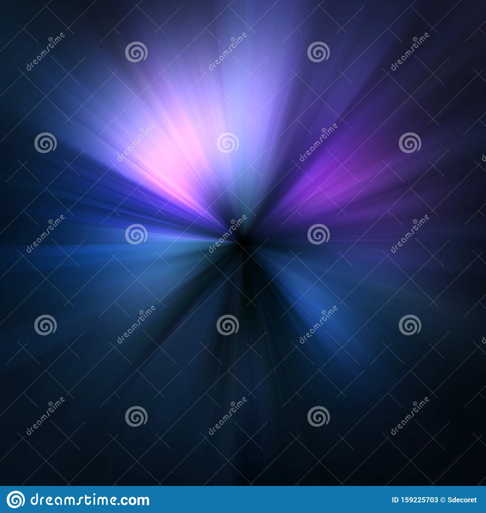 Abstract Blue Pink And Purple Zoom Effect Background Stock