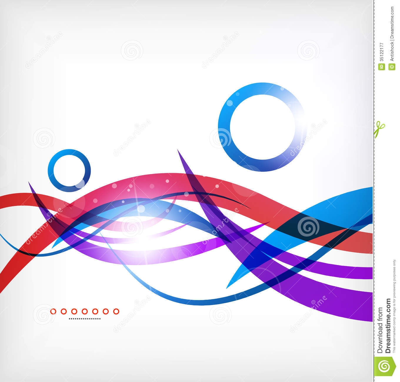 Abstract Blue And Red Lines Business Background Stock
