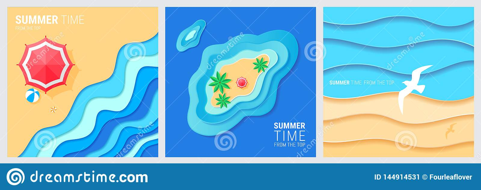 Abstract blue sea and beach summer background