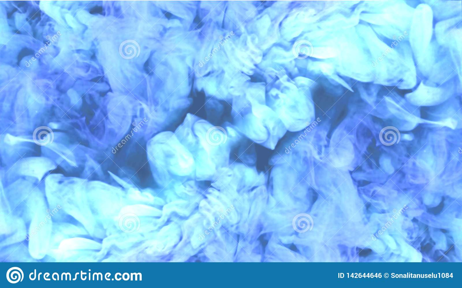 Abstract Blue Smoke Background Stock Illustration
