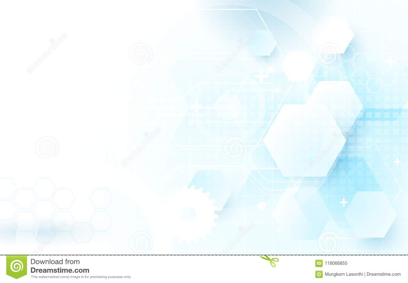 Abstract blue technology digital hi tech hexagons concept background.