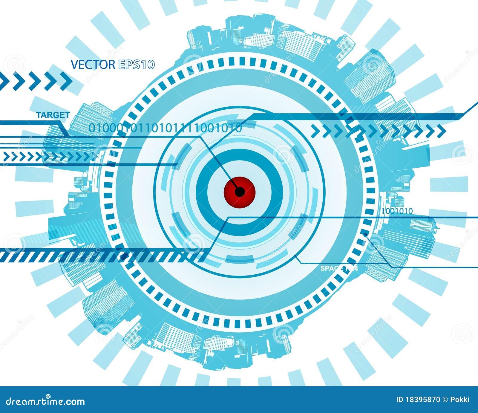 Blue Technology: Abstract Blue Technology Illustration. Stock Photo