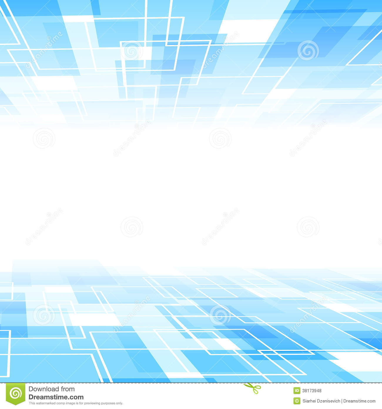 Abstract Blue Tile Perspective Background Template Royalty